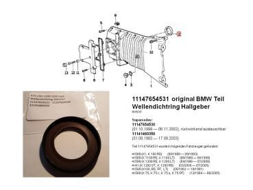 11147654531 original BMW Seal front cover