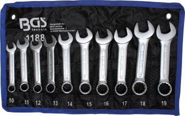 COMPACT Spanner Set | extra short | 10 - 19 mm | 10 pcs.