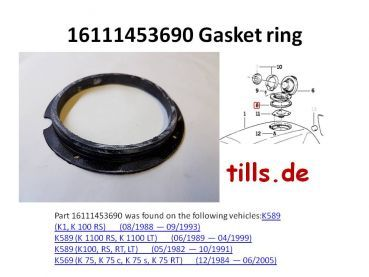 Tank Seal BMW original 16111453690