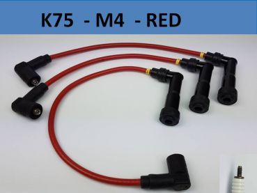 K75 ignition wires - M4 Connector - RED