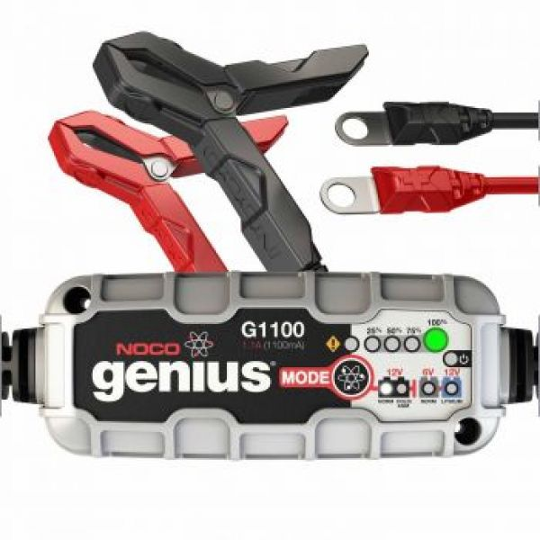 NOCO GENIUS BATTERY CHARGER G1100EU 6/12V 1.1A LITHIUM COMPATIBLE