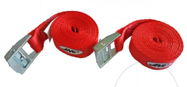 2x TIE DOWN STRAPS 25mm/3m WITH CLAMP LOCK